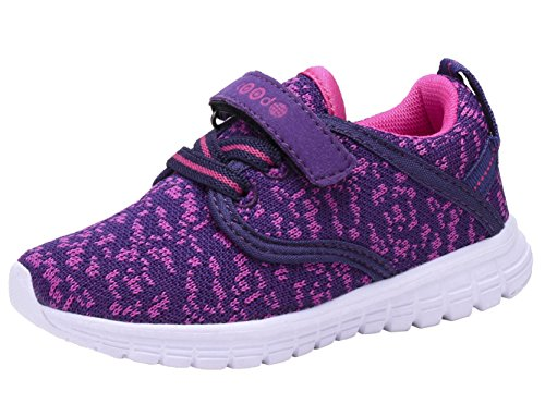 COODO CD3001 Toddler Kid's Sneakers Boys Girls Cute Casual Running Shoes New Purple/Pink-9 -