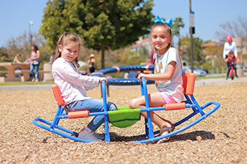 Playground Seesaw (SLIDEWHIZZER ROCKING HIGH CHAIR SEESAW INDOOR, OUTDOOR PLAY - BABY, TODDLER, BOYS, GIRLS, KID, YOUTH RIDE ON TOY - LIVING ROOM, LAWN, BACKYARD, PLAYGROUND - AGES 4- 8 TEETER TOTTER - GIFTS, PARTY)