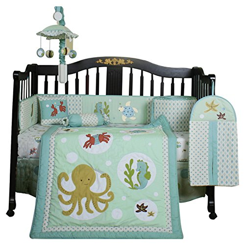 ocean sea animals 13 piece baby bedding crib set beachfront decor