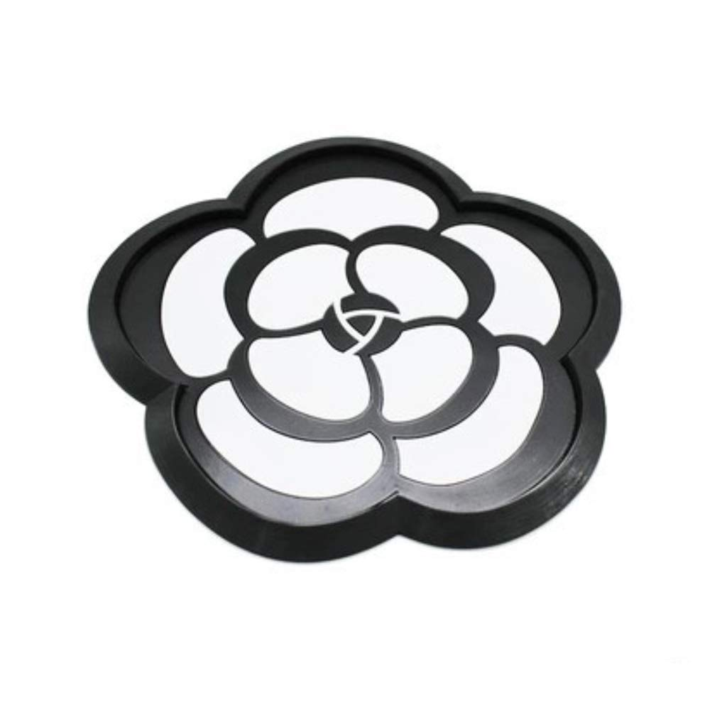ZCP Car Ornaments Round Flower Mat Camellia Car High Temperature Shockproof Sun Protection Car Storage Pad Car Ornaments (Size : 3pcs)