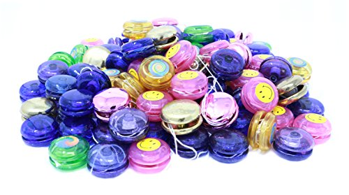 Mini Yoyo Assortment - Bulk Pack Of 144 Yo Yos In Bright Colors And (Yoyo Toys)