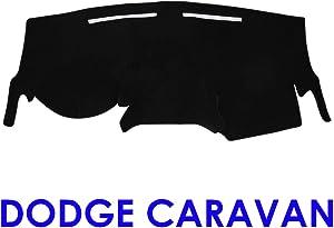 JIAKANUO Auto Car Dashboard Carpet Dash Board Cover Mat Fit for Dodge Caravan 2011-2018 (Black MR-008)