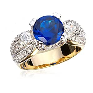 SYNTHETIC BLUE SAPPHIRE RING