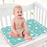 Toddler Infant Waterproof Changing Pad - Breathable Urine Mat Menstrual Pads for Children and Adults by MBJERRY (XL(31.50 x 43.31Inch), Fantasy Stars)