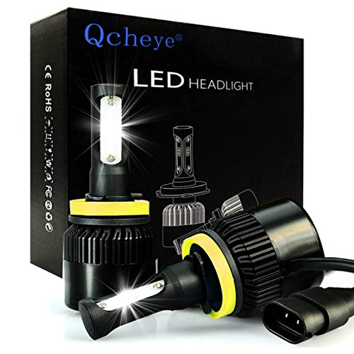 LED Headlight Bulbs All-in-One Conversion Kit - H11 (H8, H9) 2Pcs 8000Lm 6000K Cool White with Super Bright - 2 Year Warranty