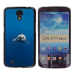 Be Good Phone Accessory // Dura Cáscara cubierta Protectora Caso Carcasa Funda de Protección para Samsung Galaxy Mega 6.3 I9200 SGH-i527 // Shark Jaws Danger Diver Diving