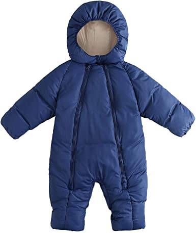 Winter Baby Boys Girls Romper Jacket Hooded Jumpsuit Warm Thick Coat Outfits
