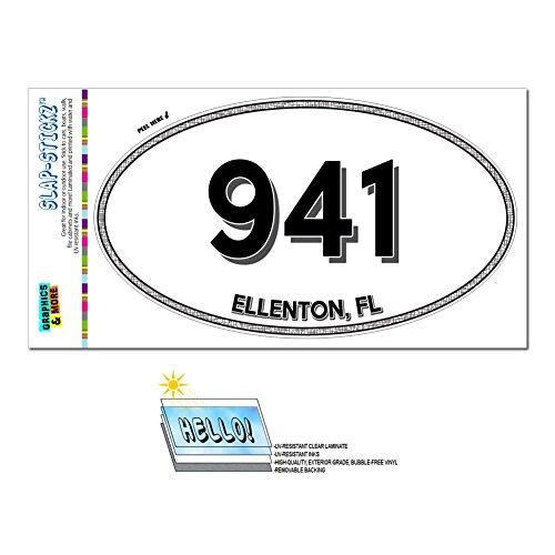 Graphics and More Area Code Euro Oval Window Laminated Sticker 941 Florida FL Anna Maria - Venice - - Ellenton Florida