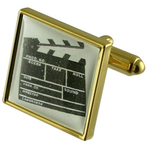 Film Directeur Clapper Board Manchette avec gravé souvenir