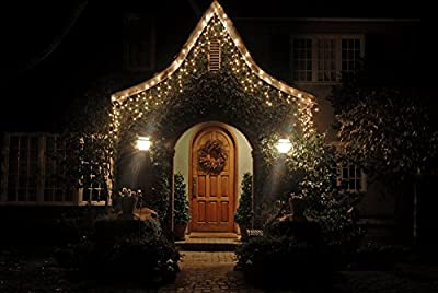 Spring Rose(TM) 300 Christmas Icicle Lights. These Are Great For The Holidays Or As A Party Or Wedding Decoration. Can Be Used Indoors and Outdoors. You Get Two Strands of 150 Lights. Each Strand Measures 17.5 Feet Total Length, 85 Inches From Plug To Fir