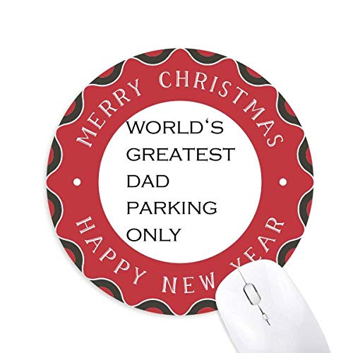 World's Greatest Dad Father's Festival Quote Mouse Pad Merry Christmas Round Rubber
