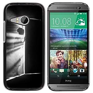 For HTC ONE MINI 2 / M8 MINI Case , Meaning Girl Black White Deep - Diseño Patrón Teléfono Caso Cubierta Case Bumper Duro Protección Case Cover Funda