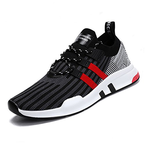 Sneakers Outdoor Homme Baskets Rouge Running Gris Chaussures Course Fitness Sports Shoes ZIITOP de Gym CY4wX4q