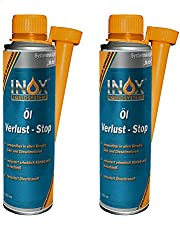 INOX® olieverlies stop additief, 2 x 250 ml - olietoevoeging voorkomt olielek in de motor, voor alle motormotoren
