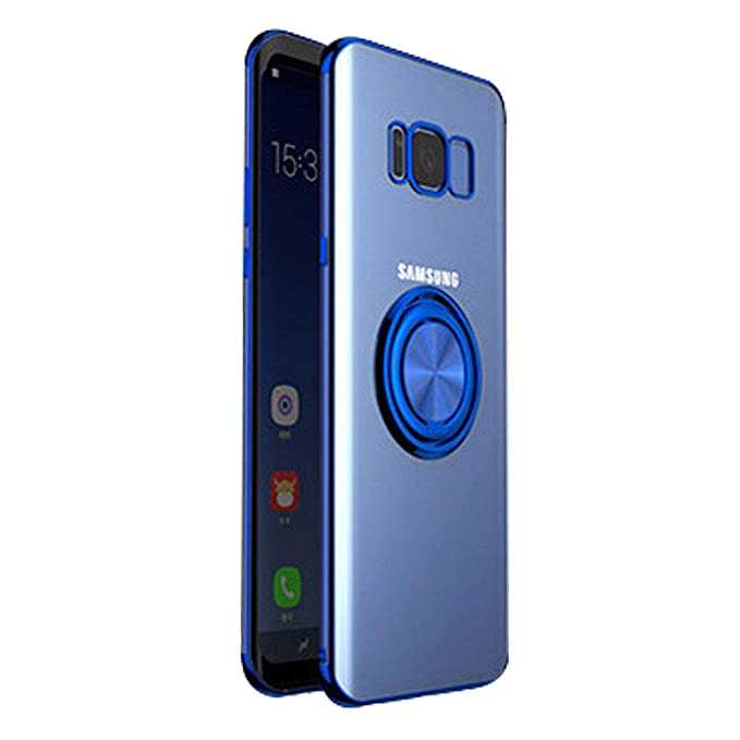 Neivi Compatible con Funda Samsung Galaxy S8 Plus Carcasa Cubierta Transparente TPU Silicona Case con Anillo Soporte 360 Grados Protectora Caso ...