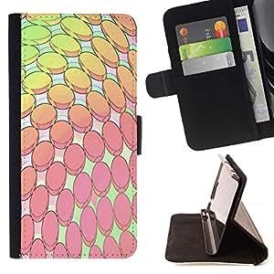 For Samsung Galaxy A3 Case , Computer Art Modern Wallpaper Rosa Amarillo- la tarjeta de Crédito Slots PU Funda de cuero Monedero caso cubierta de piel