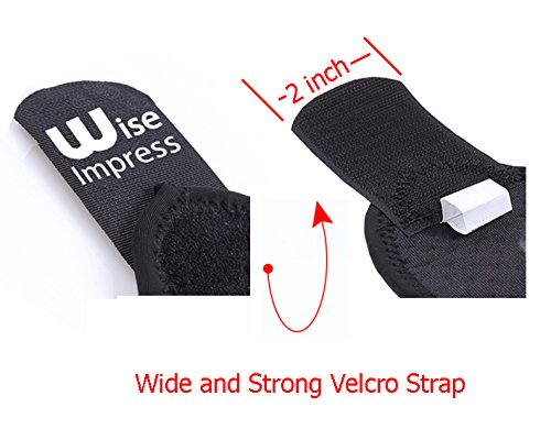 Wrist Wraps Brace Support For Carpal Tunnel Arthritis - Compression Braces Stabilizer - For Men Women Kids - Left And Right Hand - One Hand Adjustable - Best For Weight Lifting Bowling Workout (Black) by Wise Impress (Image #3)