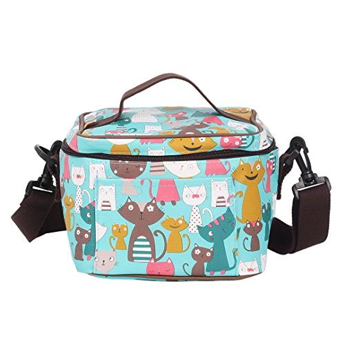 Picnic Bag Tote Bag Cooler Bag Storage Bag Portable Insulation Bag Lunch Bag Gripesack with Zipper for Lunch-box Shopping Bag Reusable - Square Shopping Times