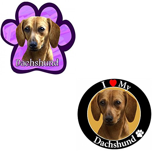 Bundle: Two (2) Red Dachshund Magnets - Dachshund Red Magnet