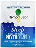 HempFusion Phytocomplex Sleep (Box of 12 Travel Size Pouches, 2 Capsules Each), Whole Food Hemp Complex, 24 Vegetarian Liquid Capsules Total