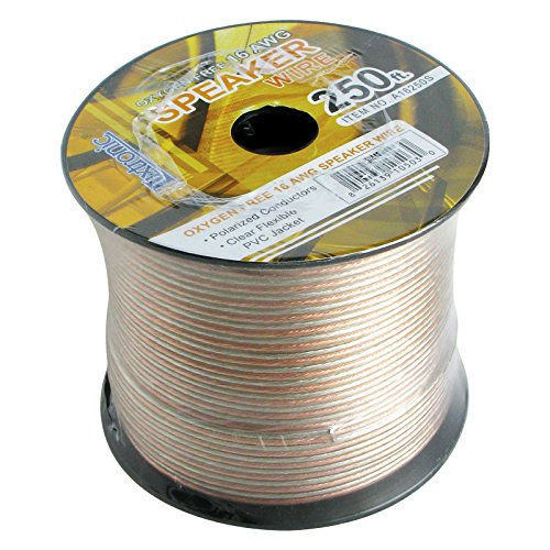 250' FT Luxtronic 16 AWG Oxygen Free Polarized Speaker Cable Stranded Flexible