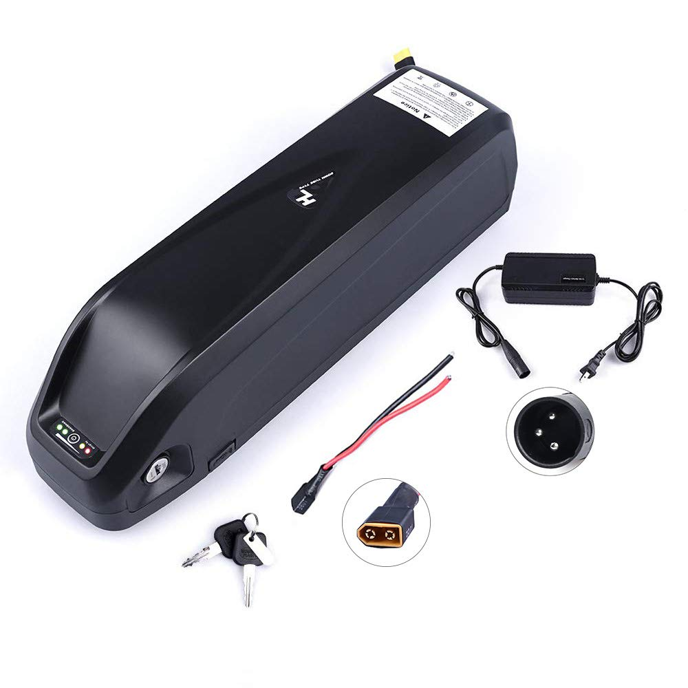 Junstar Electric Bike Battery Hailong 36V 17.4Ah Lithium Li-ion Battery Samsung 29E Cells with Charger with USB Socket for 36VV 250W/350W/500W Motor