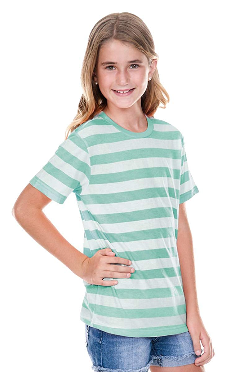 Kavio Youth Striped Jersey Crew Neck Short Sleeve Tee Kavio! YJP0605