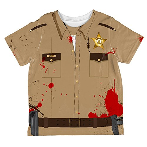 Halloween Zombie Grime Sheriff Walker All Over Toddler T Shirt Multi 4T