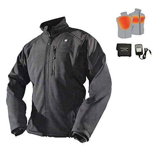 Cordless Heated Jacket Carbon Fiber Electric Heating Clothing Male Jacket Thermal Clothing with 1PCS 4400mah Battery (L)