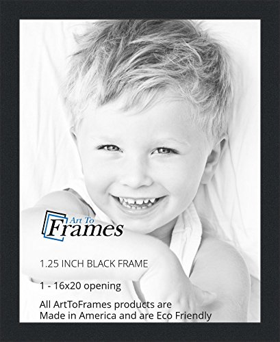ArtToFrames 16x20 inch Black Picture Frame, WOMFRBW72079-16x20