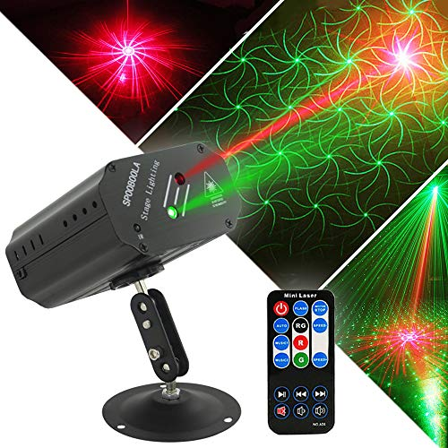 Party Lights DJ Lights, Disco Stage lights SPOOBOOLA Projector Strobe lights dj equipment for Stage Lighting with Remote Control for Dancing Christmas Gift Thanksgiving Birthday (Lights For Dj Equipment)