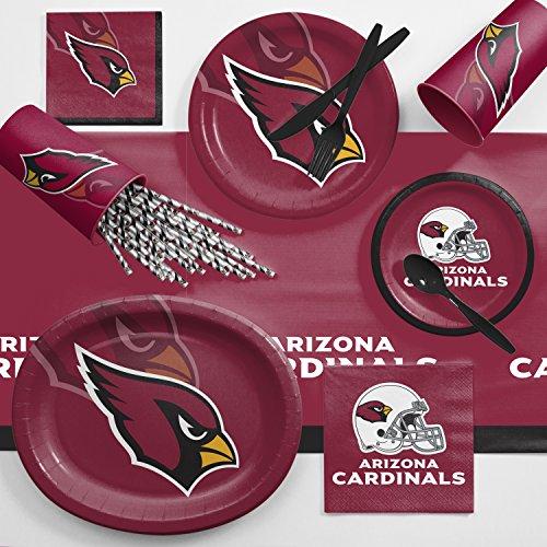 Creative Converting Arizona Cardinals Ultimate Fan Party Supplies Kit, Serves 8 ()