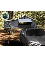 Overland Vehicle Systems Nomadic 2 Extended Roof Top Tent - Dark Gray Base with Green Rain Fly & Black Cover Universal…