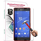 PThink® 2.5D Round Edge 0.3mm Ultra-thin Tempered Glass Screen Protector for Sony Xperia Z3 Compact with 9H Hardness/Anti-scratch/Fingerprint resistant