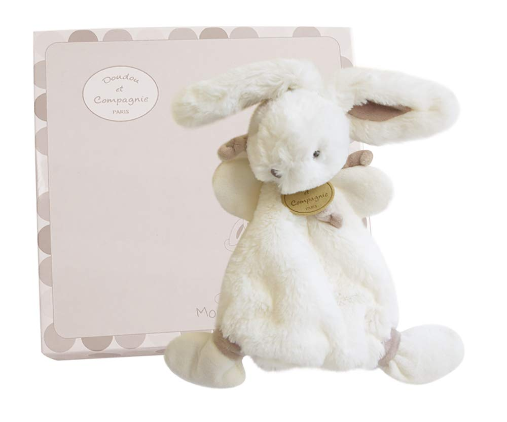 Doudou et Compagnie - DC2123 White Soft Plush Bunny 10.23'' by BabyCenter