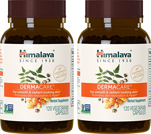 Himalaya DermaCare with Neem for Clear Skin and Mild Acne 560 mg, 120 Capsules, 2 Month Supply 2 PACK