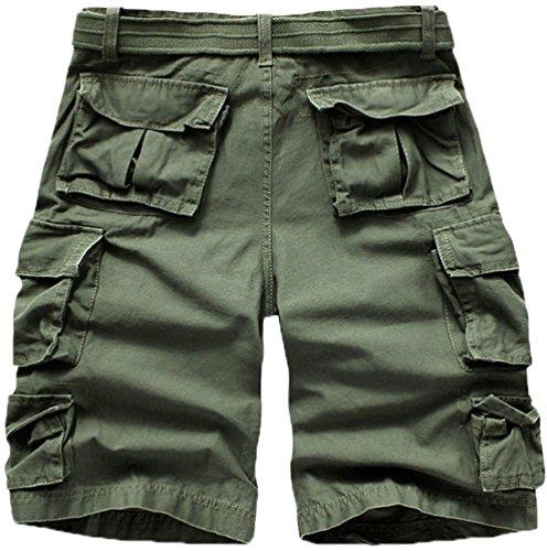 Mrignt Men\u0026#39;s Cotton Beach Pockets Cargo Shorts(No Belt) | Amazon.com
