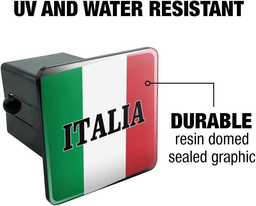 1.25 Graphics and More Italia Italy Italian Flag Tow Trailer Hitch Cover Plug Insert 1 1//4 inch