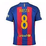 #5: 2016-17 Barcelona Home Shirt (Iniesta 8) - Kids