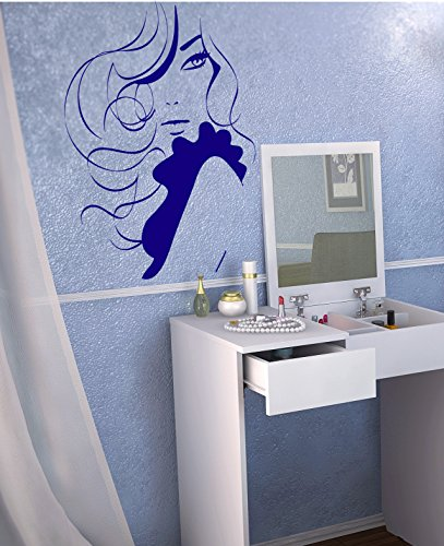 Beauty Saloon Beautiful Woman Hairdryer Flowers Butterfly Spa Kids Room Children Stylish Wall Art Sticker Decal G9535 by CristinaDecals (Image #4)