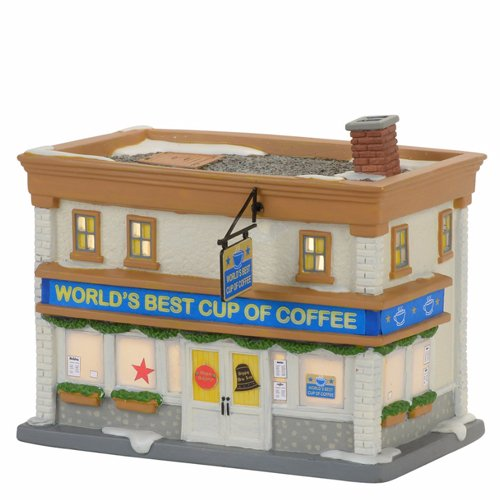 - Department 56 Elf Village World's Best Cup of Coffee Shop Lit Building