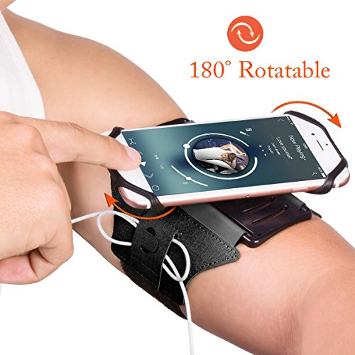 Matone Sports Armband for iPhone X/8/8 Plus/7/7 Plus/6/6S Plus, Open-face Design with Key Holder Ideal for Running Hiking Jogging Campatible with Samsung Galaxy S8/S7/S7 Edge (8 Design Band)