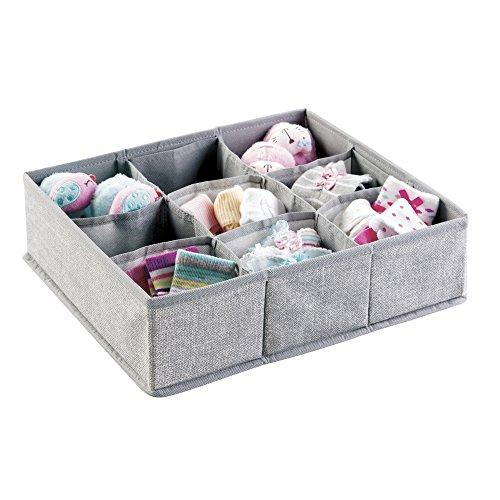 mDesign Fabric Nursery Organizer Clothing