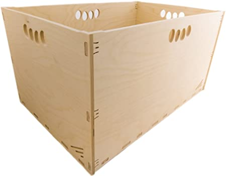 MK Design - Caja de Herramientas de Madera (40 x 30 x 32 cm, 30 L, sin Tapa, apilable): Amazon.es: Hogar