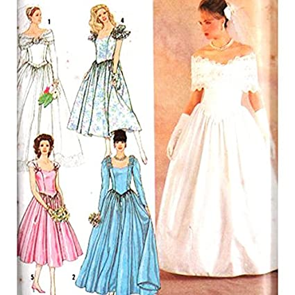 Wedding Dress Consignment Simplicity Wedding Gown Patterns