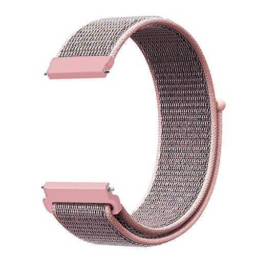 (Fintie Band for Galaxy Watch 42mm & Galaxy Watch Active & Gear Sport & Gear S2 Classic, 20mm Quick Release Nylon Sport Loop Smartwatch Replacement Strap Bands with Adjustable Closure)