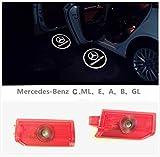 led mercedes emblem - MAX WHOLESALE For Mercedes Benz Logo LED Emblem Step Door Courtesy Welcome Light Ghost Shadow Laser Projector (2)