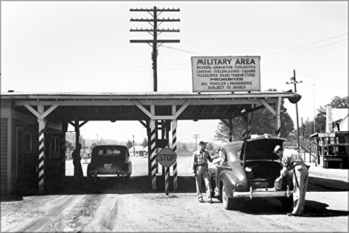 (24x36 Poster; Elza Gate Entrance To The Clinton Engineer Works, 1945, Oak Ridge Tennessee)