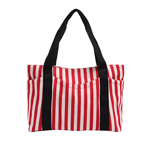 Canvas Tote Bag with Multiple Pocket/Zipper Closure Sholuder Bag/Travel Bag for Weekend/7 Pocket/Perfect Bag for Gift
