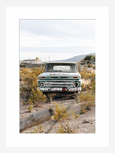eFrame Fine Art | Old Chevy Truck in Desert Chevrolet Man Cave Art ...
